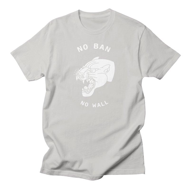 No Ban No Wall Women's Unisex T-Shirt by DEADBEAT HERO Artist Shop