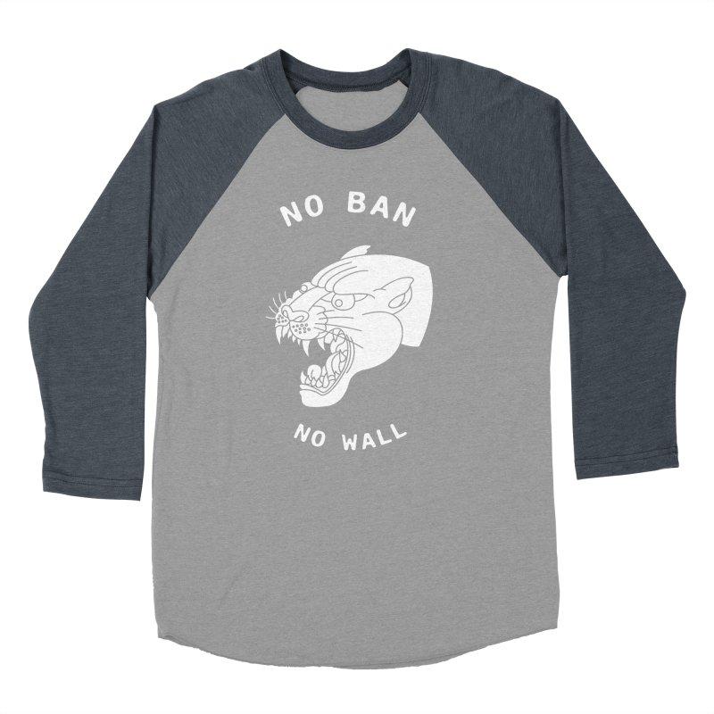 No Ban No Wall Women's Baseball Triblend T-Shirt by DEADBEAT HERO Artist Shop