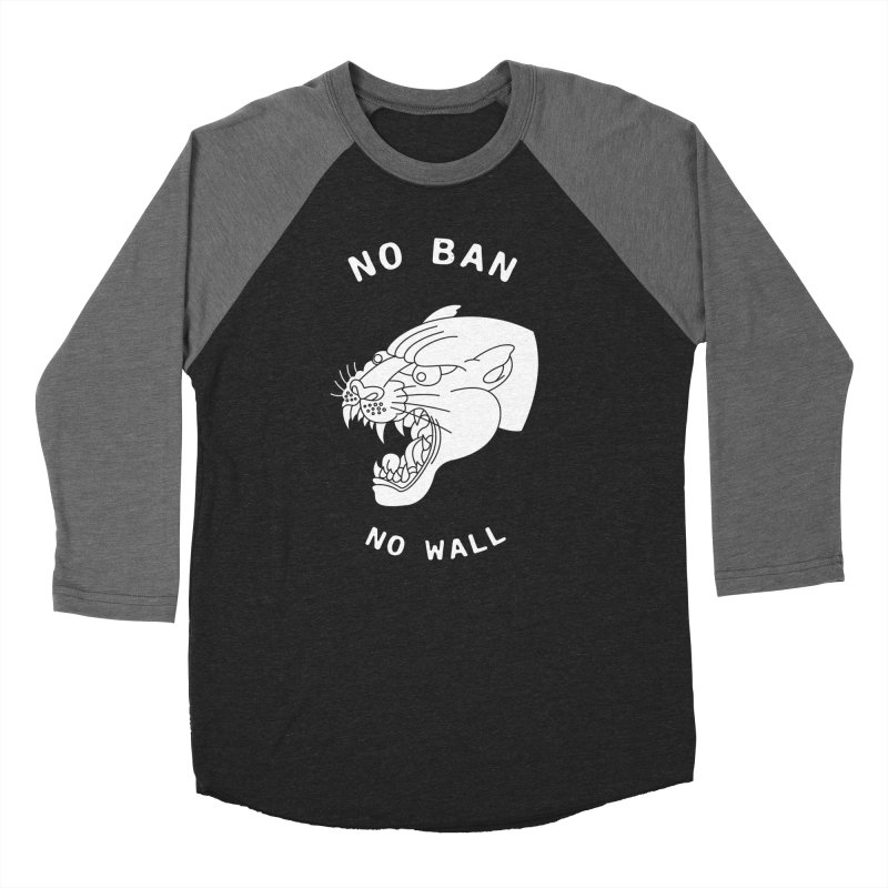 No Ban No Wall Men's Baseball Triblend T-Shirt by DEADBEAT HERO Artist Shop