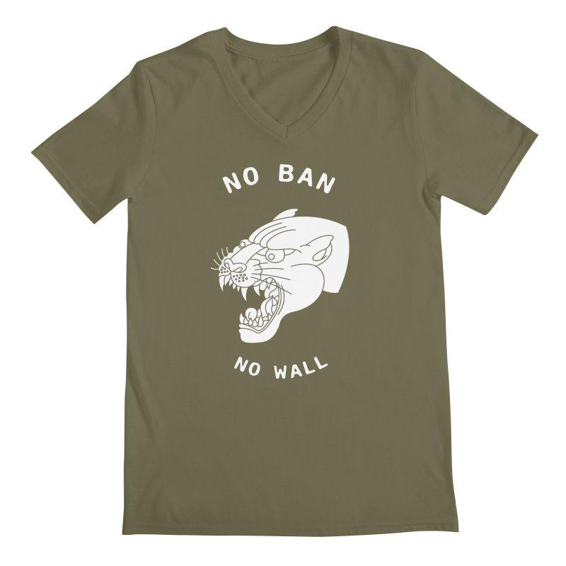 No Ban No Wall Men's V-Neck by DEADBEAT HERO Artist Shop