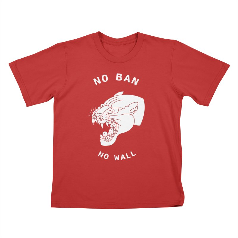 No Ban No Wall Kids T-Shirt by DEADBEAT HERO Artist Shop