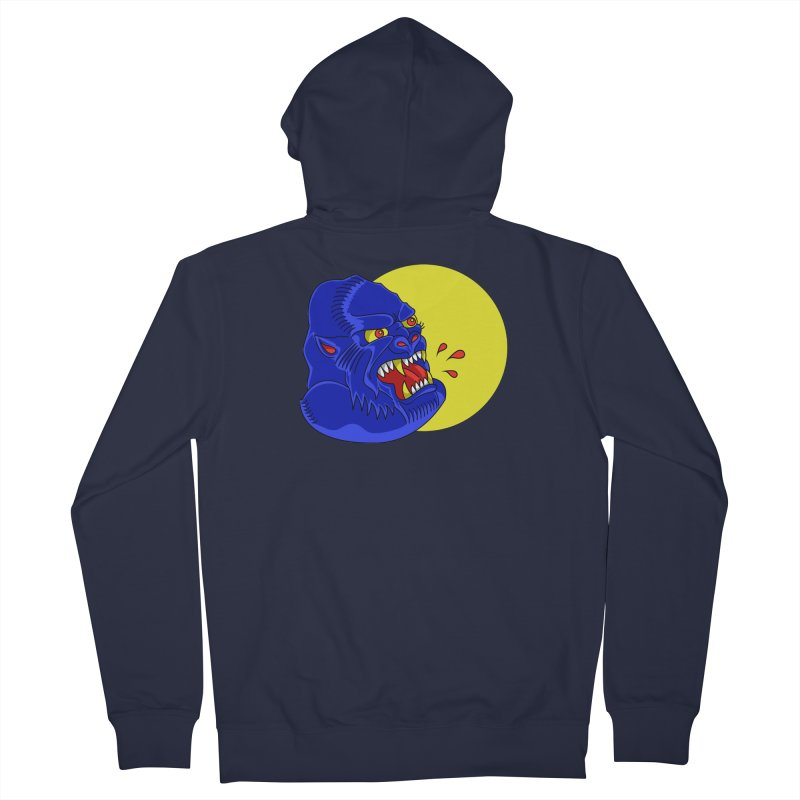 Beast Neck Women's French Terry Zip-Up Hoody by DEADBEAT HERO Artist Shop