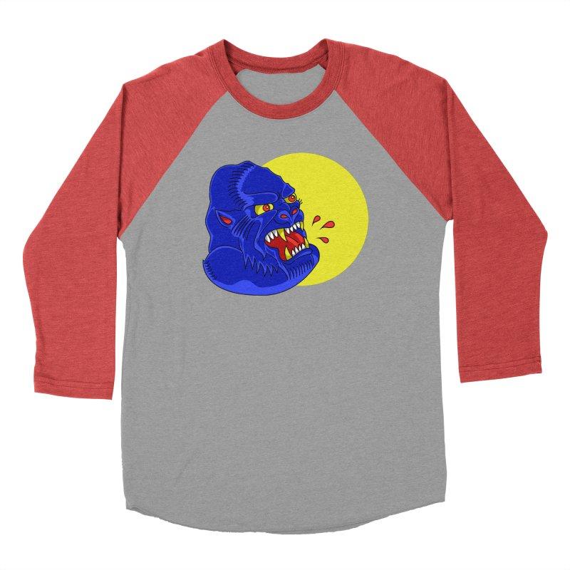 Beast Neck Women's Baseball Triblend Longsleeve T-Shirt by DEADBEAT HERO Artist Shop