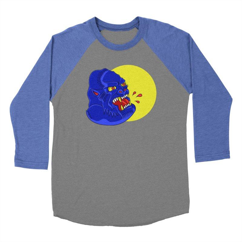 Beast Neck Men's Baseball Triblend Longsleeve T-Shirt by DEADBEAT HERO Artist Shop