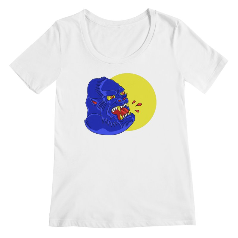 Beast Neck Women's Regular Scoop Neck by DEADBEAT HERO Artist Shop