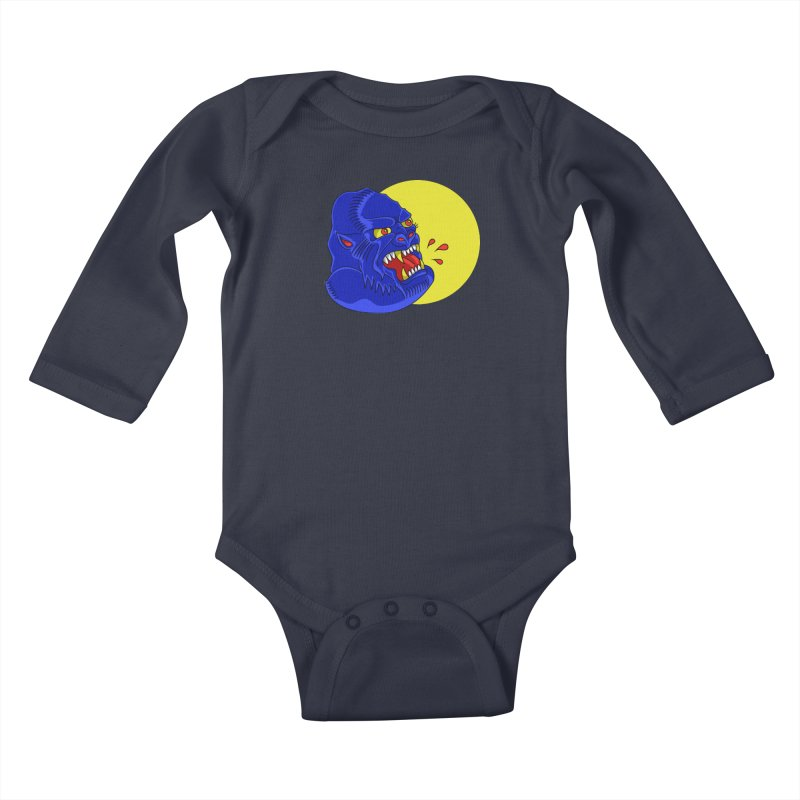 Beast Neck Kids Baby Longsleeve Bodysuit by DEADBEAT HERO Artist Shop