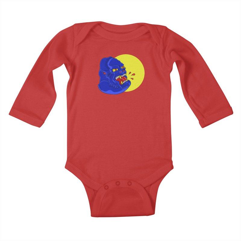 Beast Neck Kids Baby Longsleeve Bodysuit by DEADBEAT HERO Artist Shop