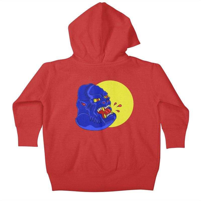 Beast Neck Kids Baby Zip-Up Hoody by DEADBEAT HERO Artist Shop