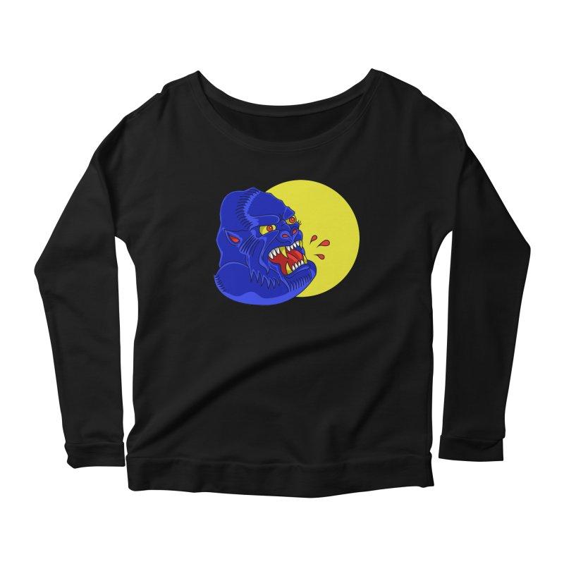 Beast Neck Women's Scoop Neck Longsleeve T-Shirt by DEADBEAT HERO Artist Shop