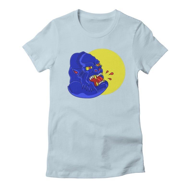 Beast Neck Women's Fitted T-Shirt by DEADBEAT HERO Artist Shop