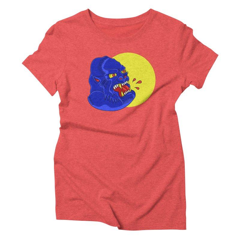Beast Neck Women's Triblend T-shirt by DEADBEAT HERO Artist Shop