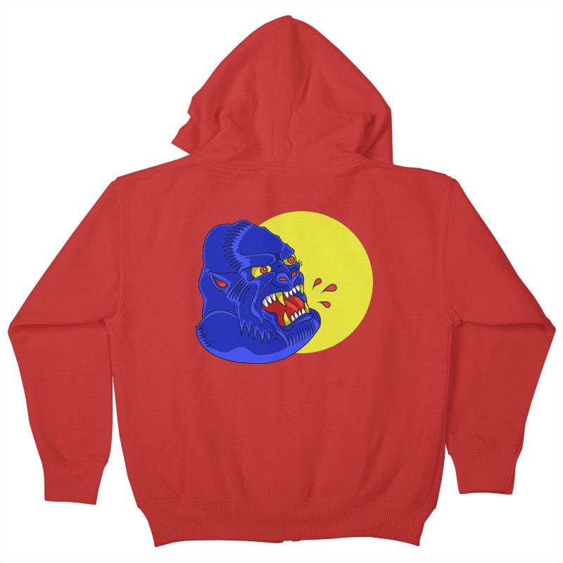 Beast Neck Kids Zip-Up Hoody by DEADBEAT HERO Artist Shop