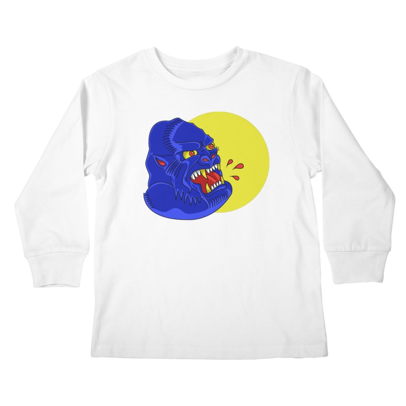 Beast Neck Kids Longsleeve T-Shirt by DEADBEAT HERO Artist Shop