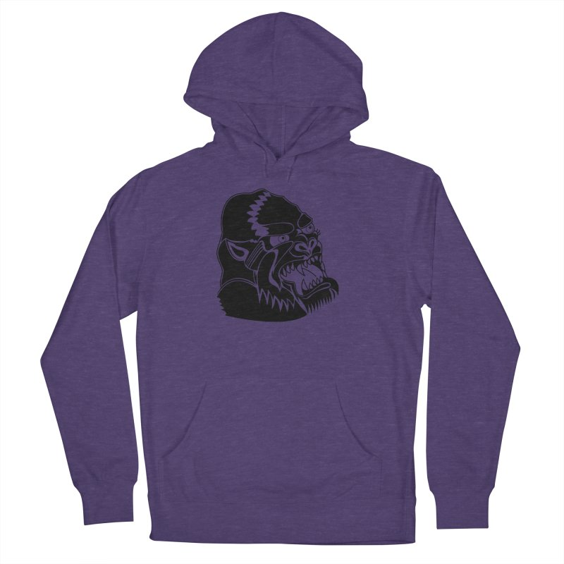 Beast Neck Face Men's French Terry Pullover Hoody by DEADBEAT HERO Artist Shop