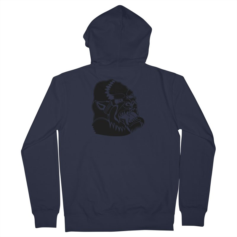 Beast Neck Face Women's French Terry Zip-Up Hoody by DEADBEAT HERO Artist Shop
