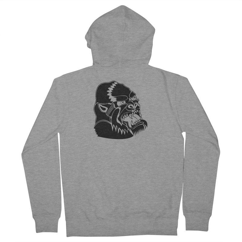 Beast Neck Face Men's Zip-Up Hoody by DEADBEAT HERO Artist Shop