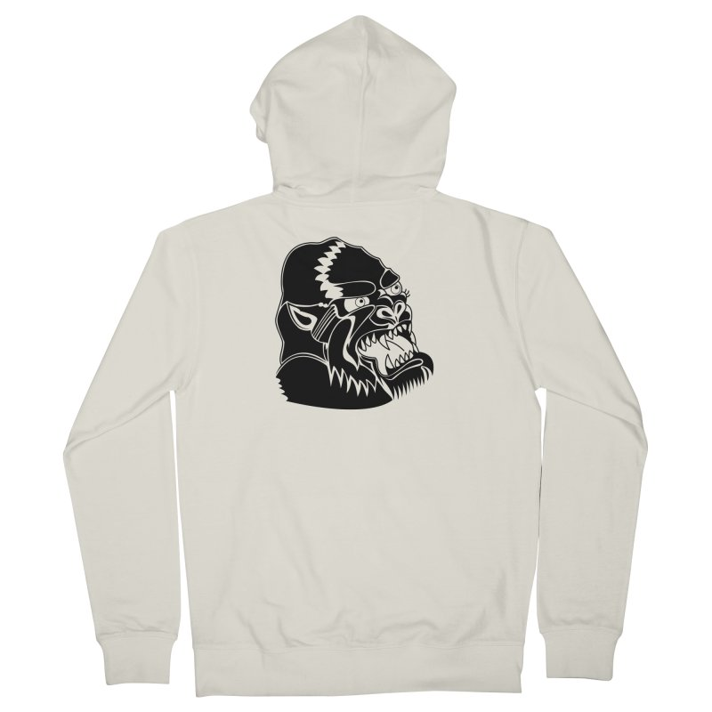 Beast Neck Face Men's French Terry Zip-Up Hoody by DEADBEAT HERO Artist Shop