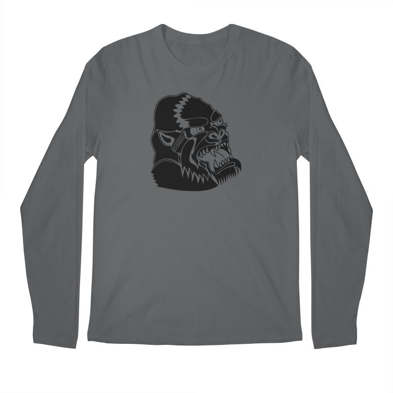 Beast Neck Face Men's Longsleeve T-Shirt by DEADBEAT HERO Artist Shop