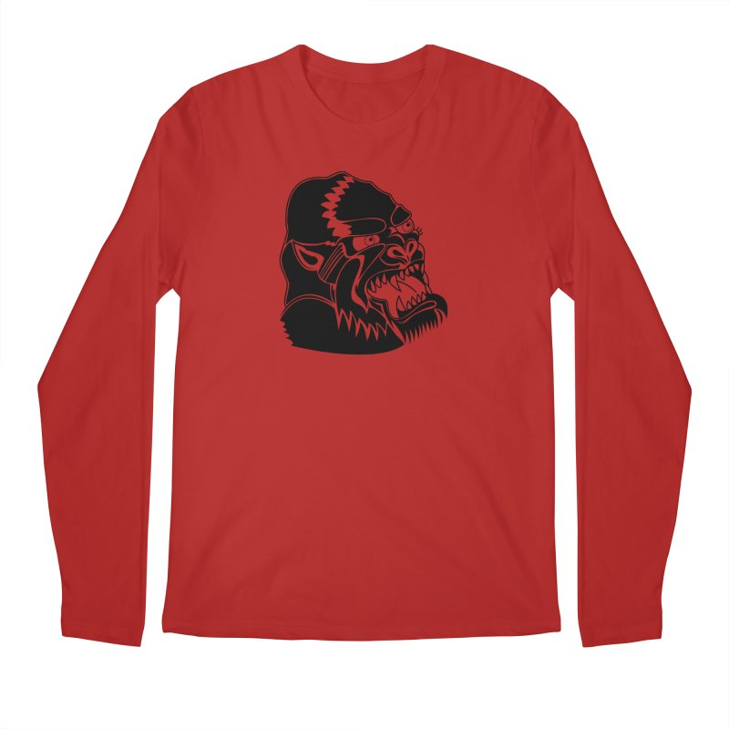 Beast Neck Face Men's Longsleeve T-Shirt by DEADBEAT HERO Artist Shop