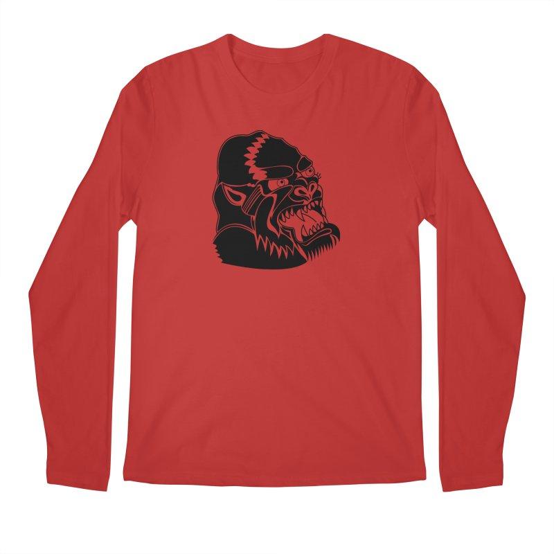Beast Neck Face Men's Regular Longsleeve T-Shirt by DEADBEAT HERO Artist Shop