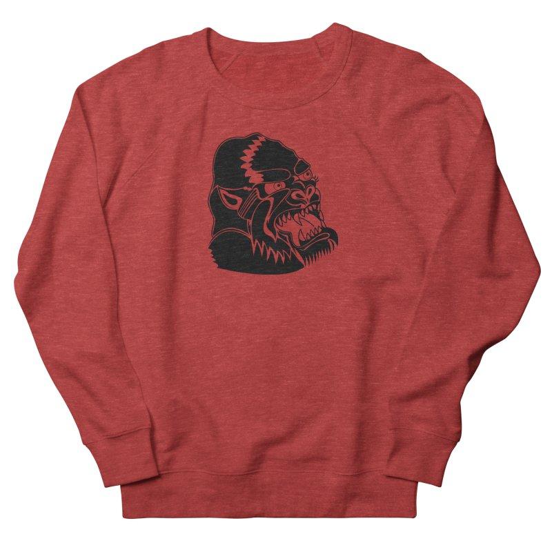 Beast Neck Face Men's French Terry Sweatshirt by DEADBEAT HERO Artist Shop