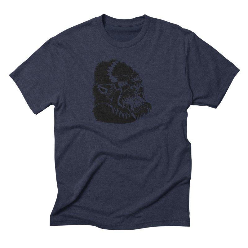 Beast Neck Face Men's Triblend T-Shirt by DEADBEAT HERO Artist Shop