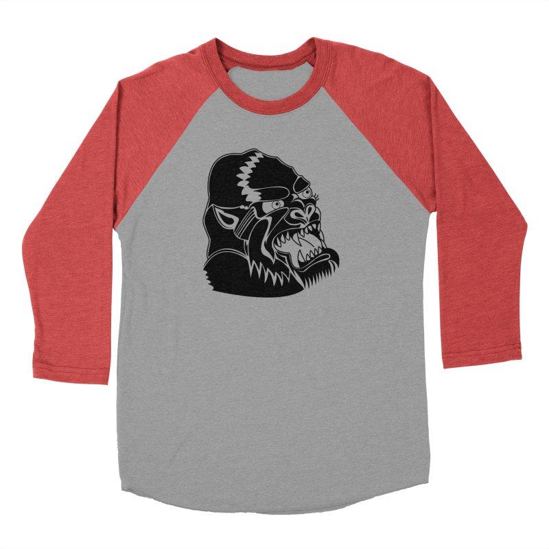 Beast Neck Face Men's Baseball Triblend T-Shirt by DEADBEAT HERO Artist Shop