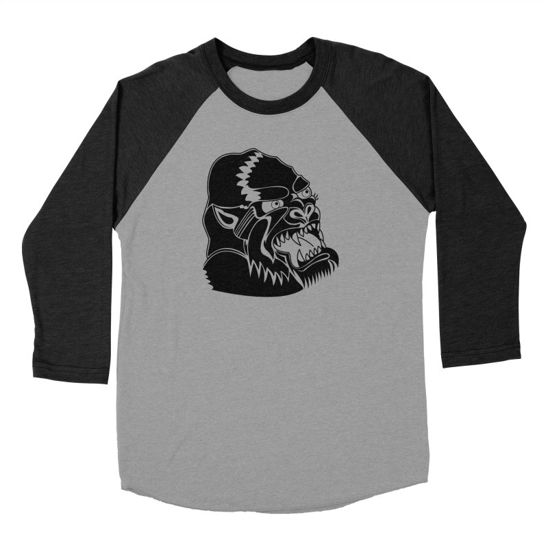 Beast Neck Face Men's Baseball Triblend Longsleeve T-Shirt by DEADBEAT HERO Artist Shop