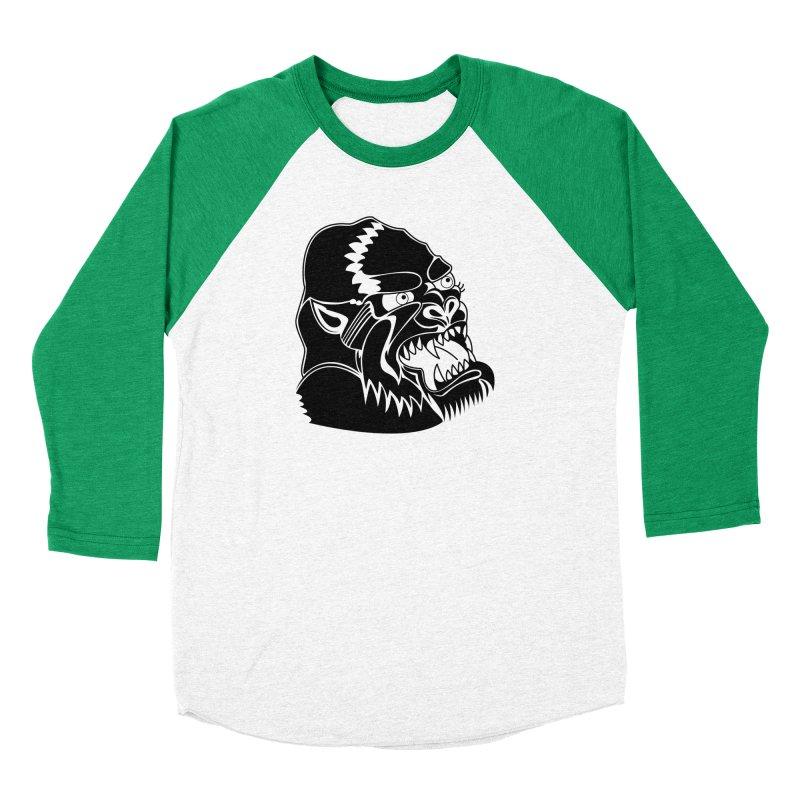 Beast Neck Face Men's Baseball Triblend Longsleeve T-Shirt by DEADBEAT HERO Artist Shop