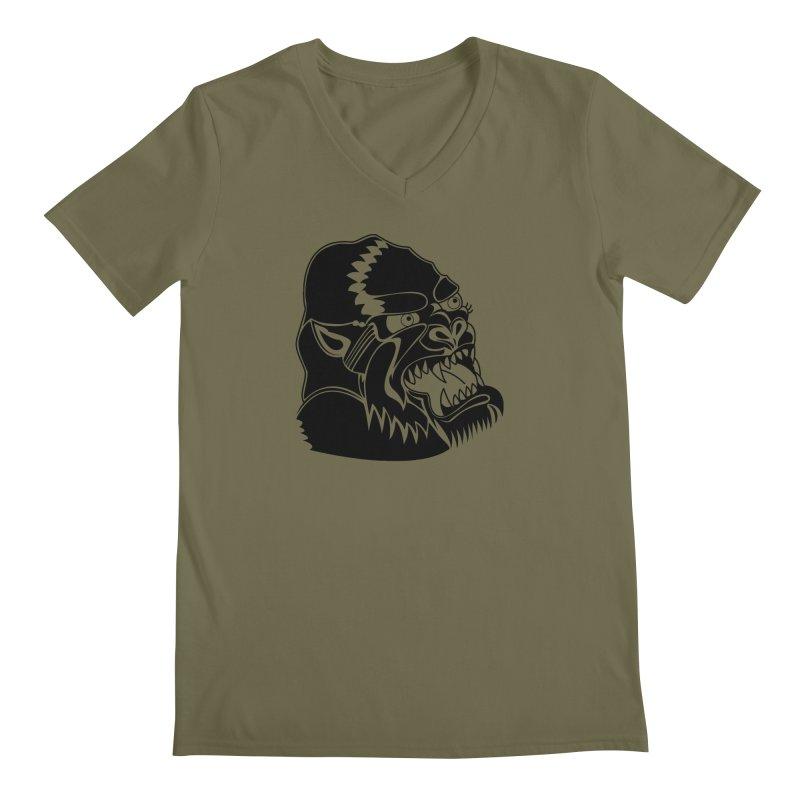 Beast Neck Face Men's V-Neck by DEADBEAT HERO Artist Shop