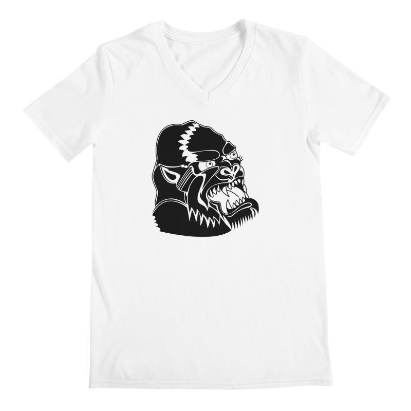 Beast Neck Face Men's Regular V-Neck by DEADBEAT HERO Artist Shop