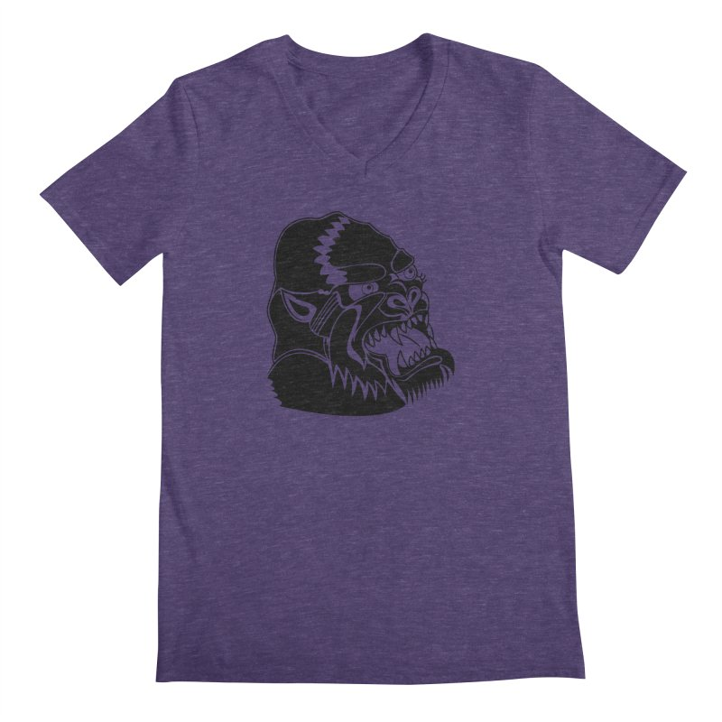 Beast Neck Face Men's Regular V-Neck by DEADBEAT HERO Artist Shop