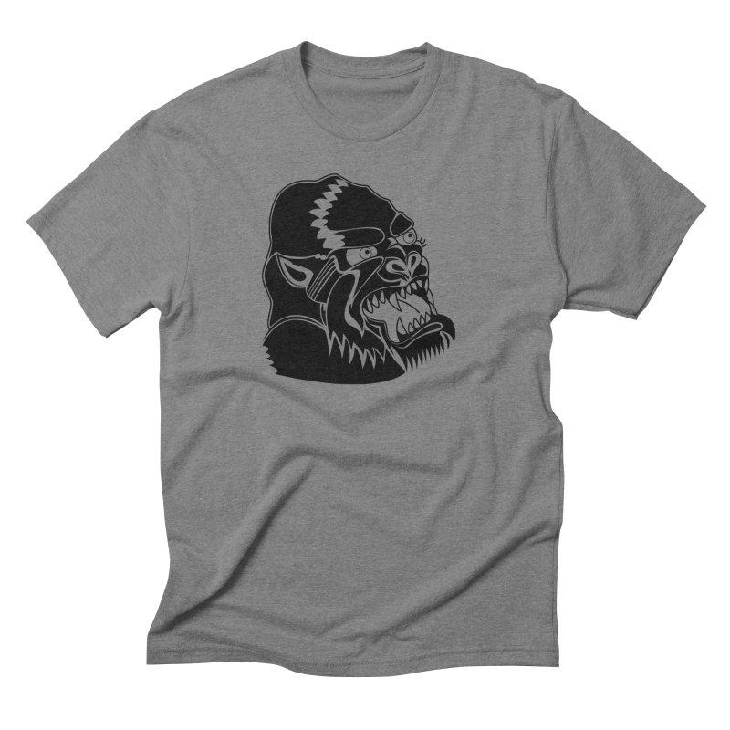 Beast Neck Face Men's Triblend T-shirt by DEADBEAT HERO Artist Shop