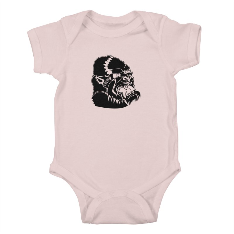 Beast Neck Face Kids Baby Bodysuit by DEADBEAT HERO Artist Shop
