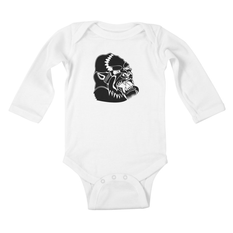 Beast Neck Face Kids Baby Longsleeve Bodysuit by DEADBEAT HERO Artist Shop