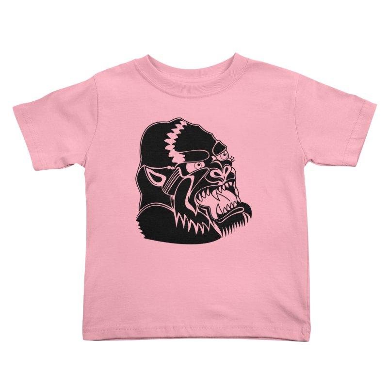 Beast Neck Face Kids Toddler T-Shirt by DEADBEAT HERO Artist Shop