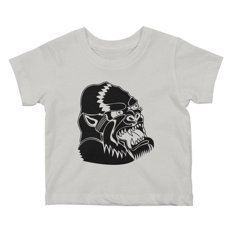 Beast Neck Face Kids Baby T-Shirt by DEADBEAT HERO Artist Shop