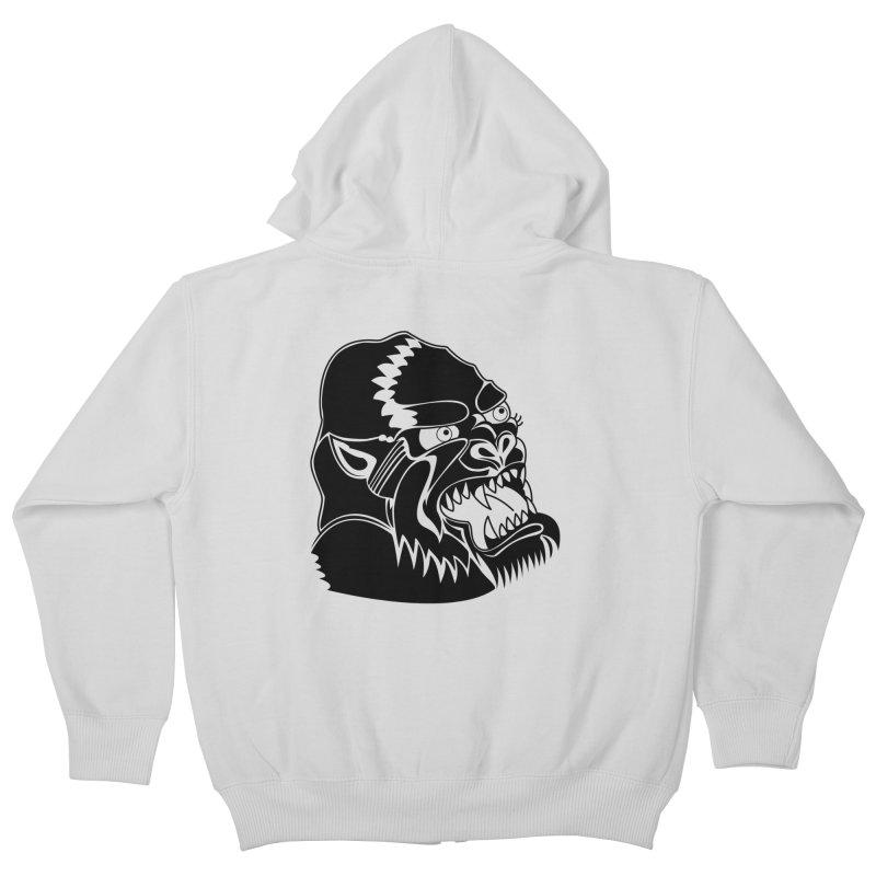 Beast Neck Face Kids Zip-Up Hoody by DEADBEAT HERO Artist Shop