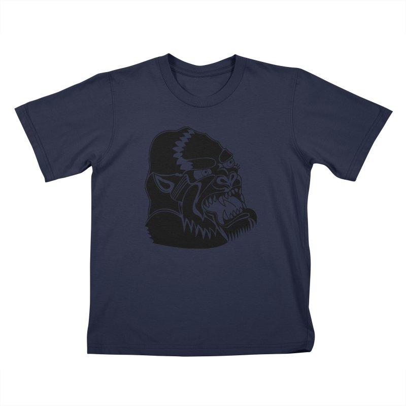 Beast Neck Face Kids T-Shirt by DEADBEAT HERO Artist Shop