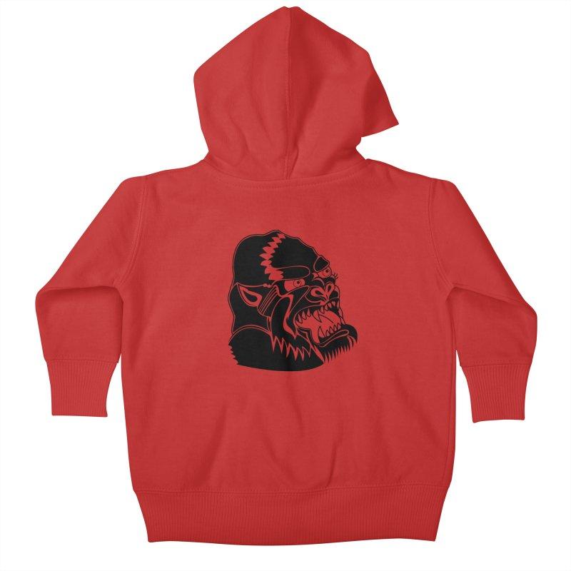 Beast Neck Face Kids Baby Zip-Up Hoody by DEADBEAT HERO Artist Shop