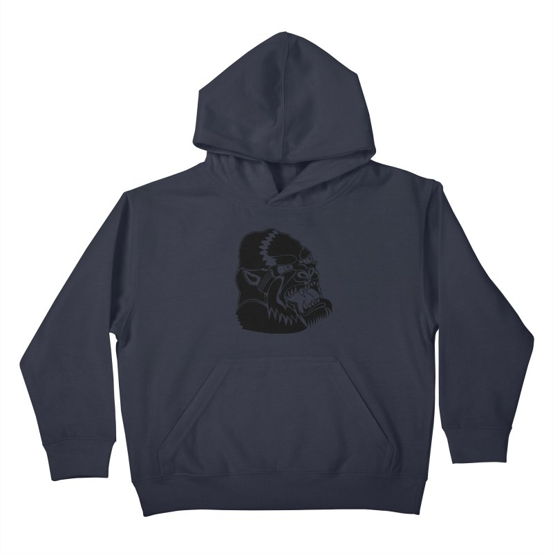 Beast Neck Face Kids Pullover Hoody by DEADBEAT HERO Artist Shop