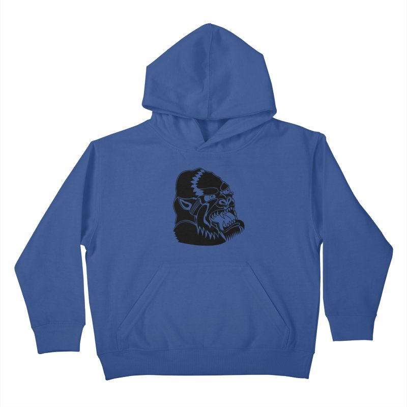 Beast Neck Face Kids Pullover Hoody by DEADBEAT HERO Artist Shop