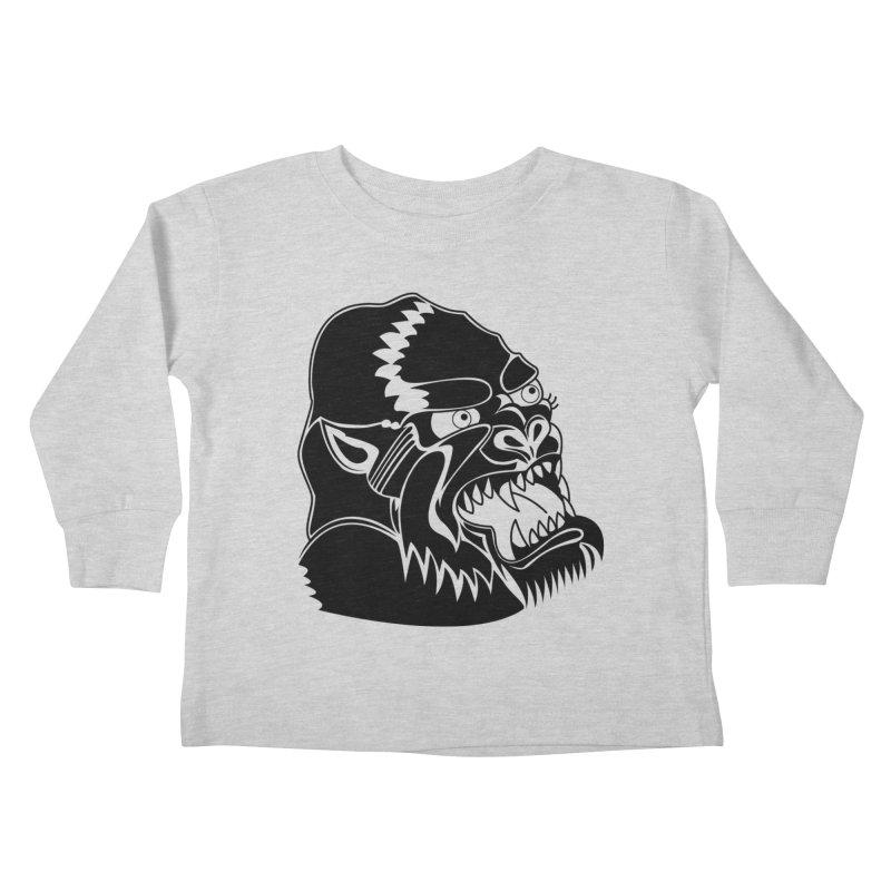 Beast Neck Face Kids Toddler Longsleeve T-Shirt by DEADBEAT HERO Artist Shop