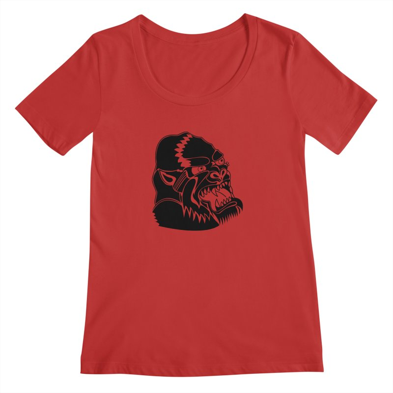 Beast Neck Face Women's Regular Scoop Neck by DEADBEAT HERO Artist Shop
