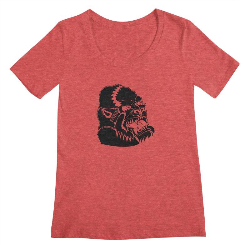 Beast Neck Face Women's Scoopneck by DEADBEAT HERO Artist Shop