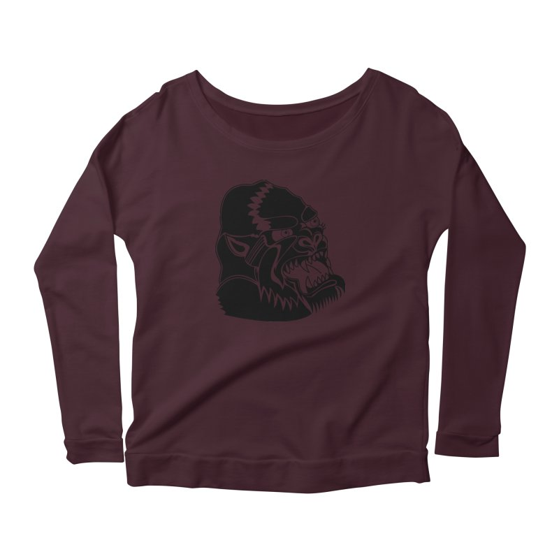 Beast Neck Face Women's Scoop Neck Longsleeve T-Shirt by DEADBEAT HERO Artist Shop