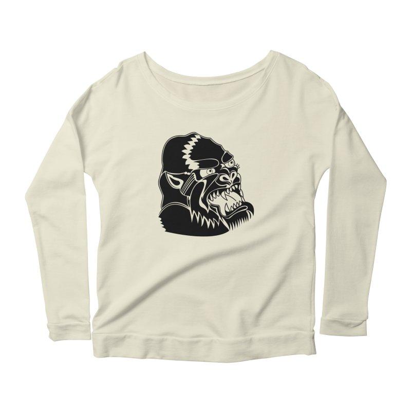 Beast Neck Face Women's Scoop Neck Longsleeve T-Shirt by DEADBEAT HERO Artist Shop