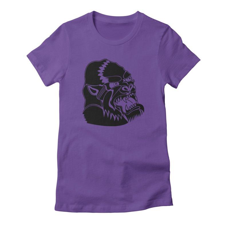 Beast Neck Face Women's Fitted T-Shirt by DEADBEAT HERO Artist Shop