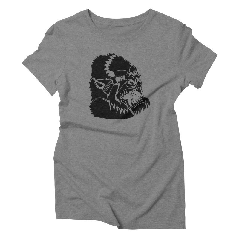 Beast Neck Face Women's Triblend T-Shirt by DEADBEAT HERO Artist Shop