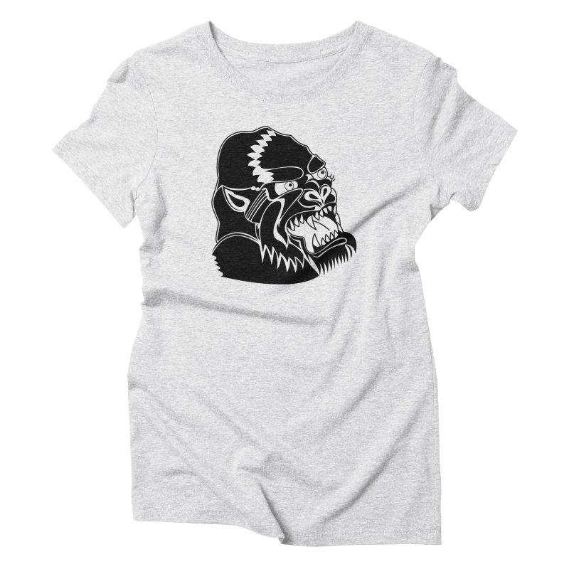 Beast Neck Face Women's Triblend T-Shirt by DEADBEAT HERO Artist Shop